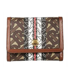 Item - Brown Ladies Small Monogram Stripe E-canvas Compact In Bridle Wallet