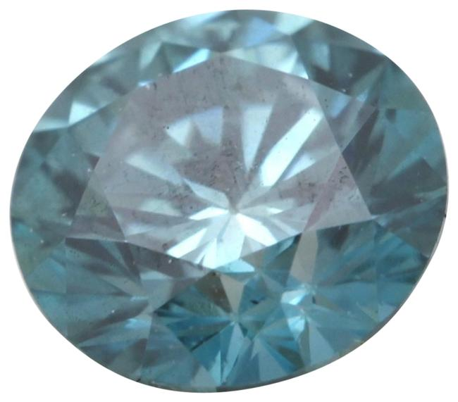 Item - Blue Round Loose Diamond 0.72 Ct Enhanced Vvs2 Clarity Igl C6003261
