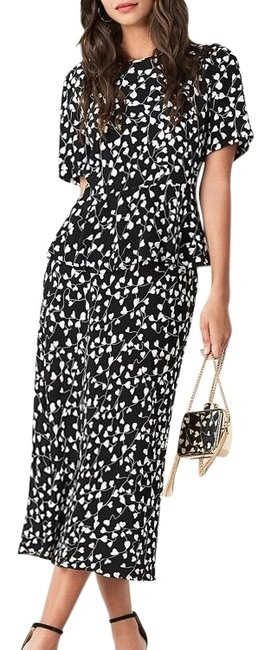 Item - Black White Piece Set Mid-length Casual Maxi Dress Size 2 (XS)