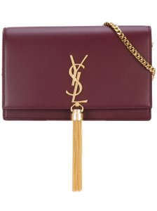 Item - Monogram Kate Chain Grained Leather Wallet Burgundy Shoulder Bag