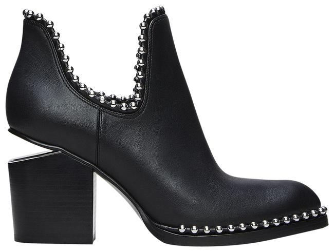 Item - Black Gabi Leather Cut Out Heel Ankle (Studs) Boots/Booties Size EU 37 (Approx. US 7) Regular (M, B)