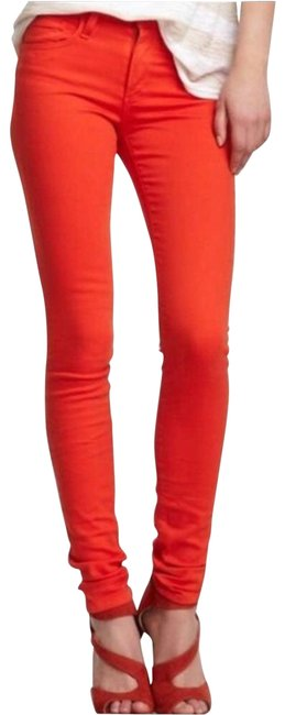 Item - Orange High Rise Ankle Skinny Jeans Size 25 (2, XS)