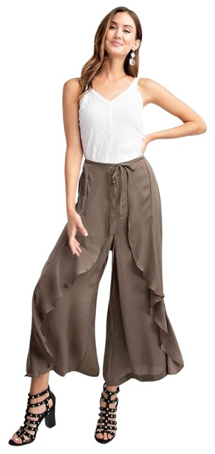 Maison Garrison Washed Olive After Hours Satin Tulip Pants Size 8 (M, 29, 30) Maison Garrison Washed Olive After Hours Satin Tulip Pants Size 8 (M, 29, 30) Image 1