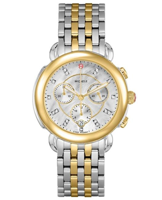 Item - Two Tone Sidney 18k Gold Mother Of Pearl Diamond Mww30a000022 Watch