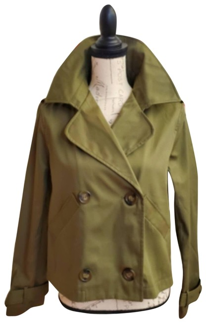 Item - Green Olive Crop Trench Sz. Large Jacket Size 12 (L)