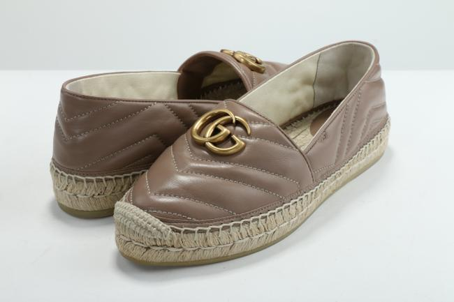 Item - Tan Leather Espadrille with Double G Shoes