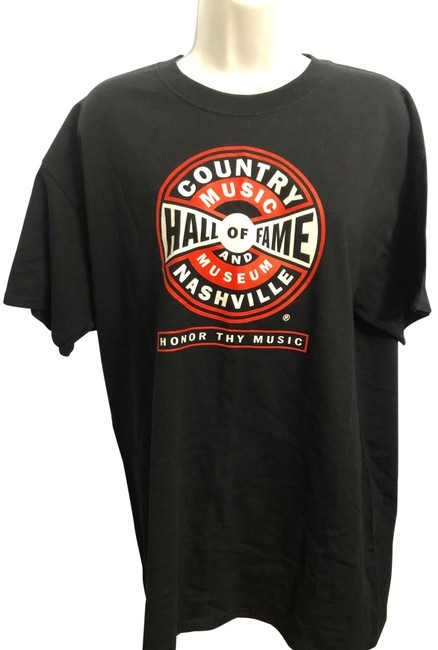 Item - Black Country Music Hall Of Fame Graphic T-shirt Tee Shirt Size 14 (L)