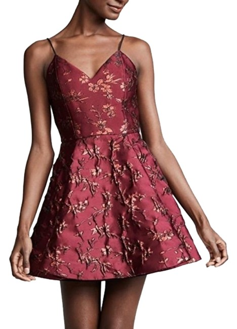 Item - Red Burgundy Wine Anette Party In Bordeaux Short Cocktail Dress Size 12 (L)