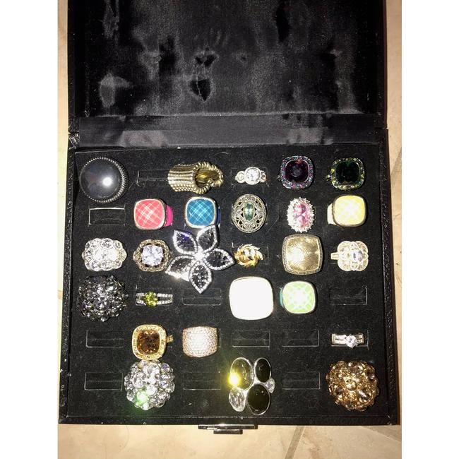 Item - Silver Lot Of Various Fashion Size 7-8 Ring