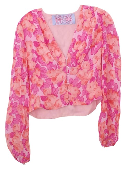 Preload https://item1.tradesy.com/images/pink-floral-button-down-summer-blouse-size-4-s-2830990-0-0.jpg?width=400&height=650