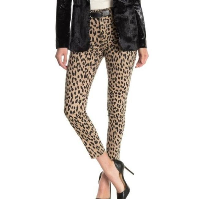 Item - Tan Coated The Charlie Leopard Print Ankle Skinny Jeans Size 29 (6, M)