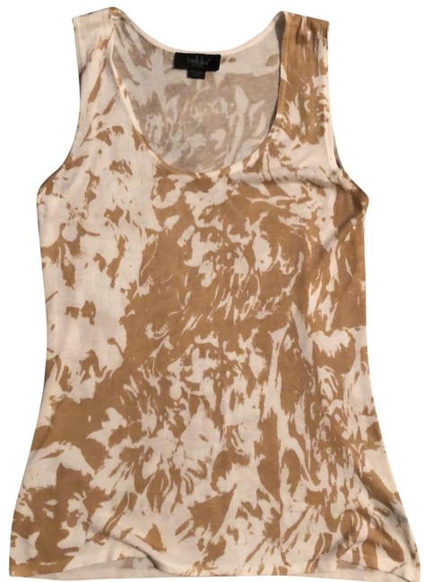 Item - Beige and Ivory Soft Knit Sleeveless Tank Top/Cami Size 10 (M)