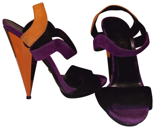 Item - Orange Purple Prism Platforms Size US 7 Regular (M, B)