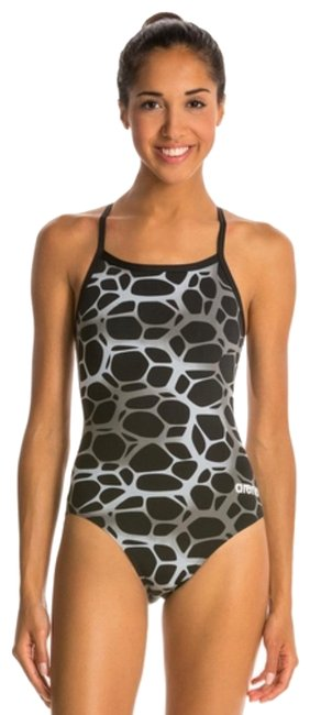 Item - Gray Polycarbonate Training One-piece Bathing Suit Size 8 (M)