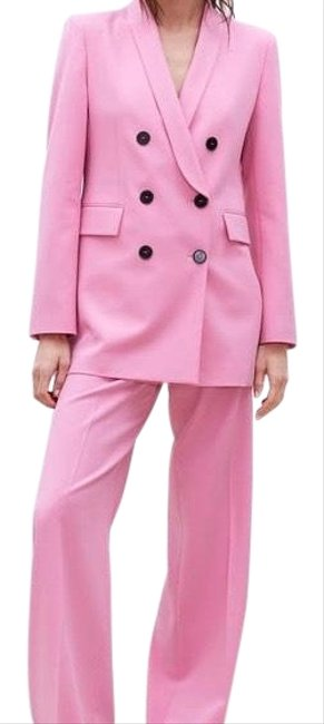 Item - Pink Double Breasted Blazer Size 4 (S)
