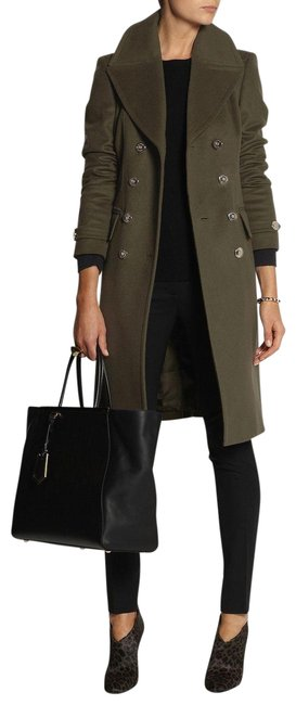 Item - Army Green Wool Cashmere Coat Size 2 (XS)