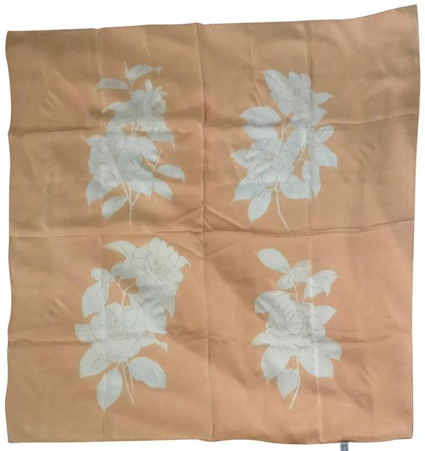 Item - White On Blush Camelia Flowers In Scarf/Wrap