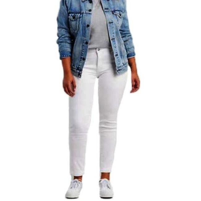 Item - White Light Wash 311 Shaping Floral Skinny Jeans Size 22 (Plus 2x)