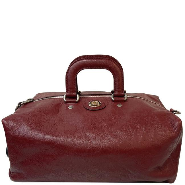 Item - Duffle Bag Soft 587866 Red Calfskin Leather Backpack