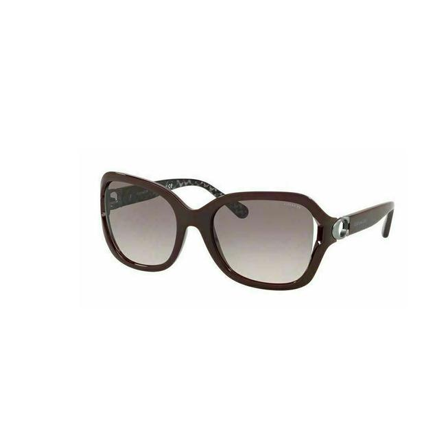 Item - Oxblood Frame & Gray/Pink Lens Hc8238 55203b Squared Woman's Sunglasses