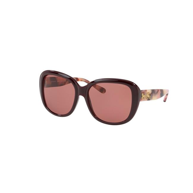 Item - Oxblood Solid Frame & Lens Hc8207 57 L1634 Squared Woman's Sunglasses