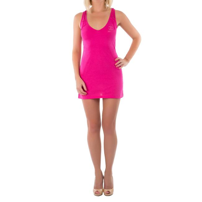 Item - Pink New Women Body Con Racer-back Tank Cotton Tunic Size 12 (L)