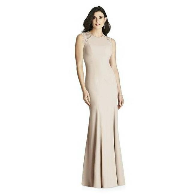 Item - Cream 3015 Lace and Crepe Gown Long Formal Dress Size 16 (XL, Plus 0x)