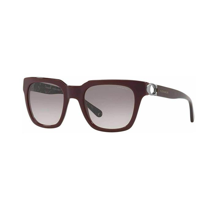 Item - Oxblood Frame & Grey /Pink Gradient Lens Hc8240 - 55203b Square Woman's Sunglasses
