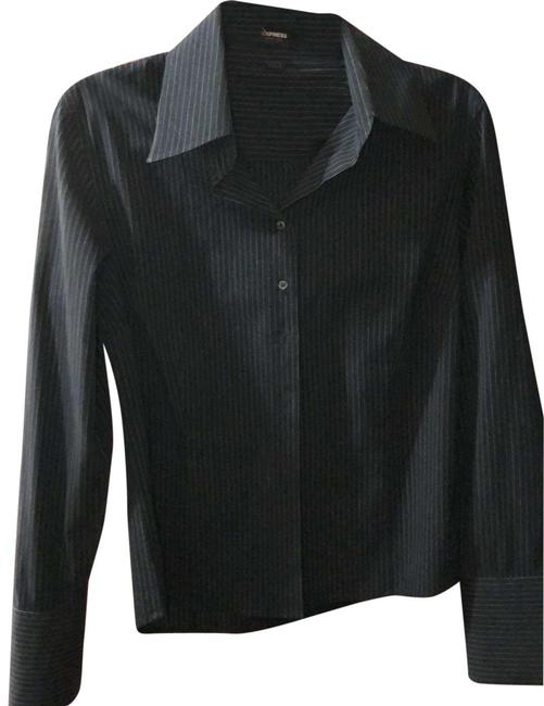 Item - Black and White Button-down Top Size 12 (L)