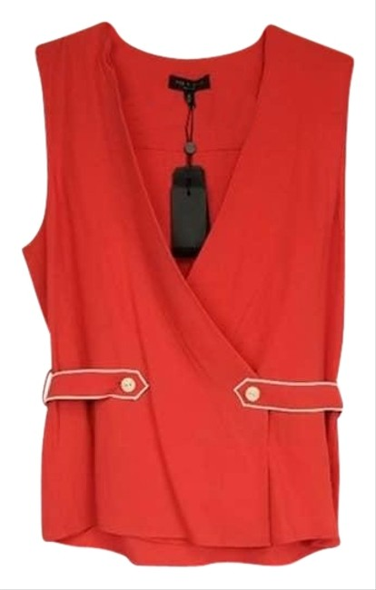 Item - Red Tabitha Sleeveless Blouse Size 8 (M)