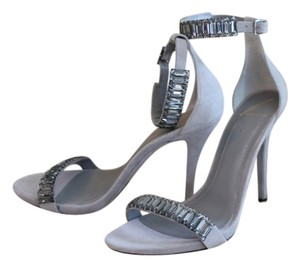 B Brian Atwood Light Grey Sandals