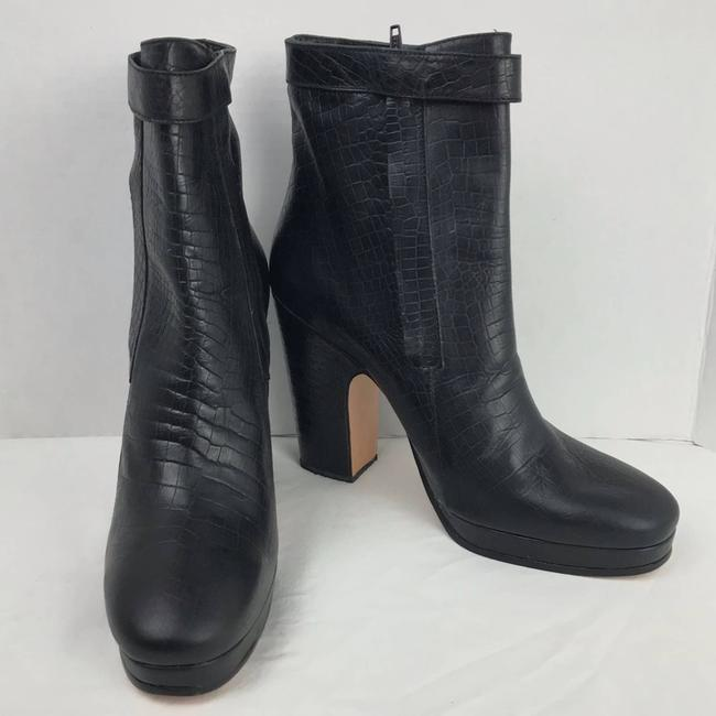 Rachel Comey Black Leather Embossed Heeled Ankle Made In Peru Boots/Booties Size US 9 Regular (M, B) Rachel Comey Black Leather Embossed Heeled Ankle Made In Peru Boots/Booties Size US 9 Regular (M, B) Image 2