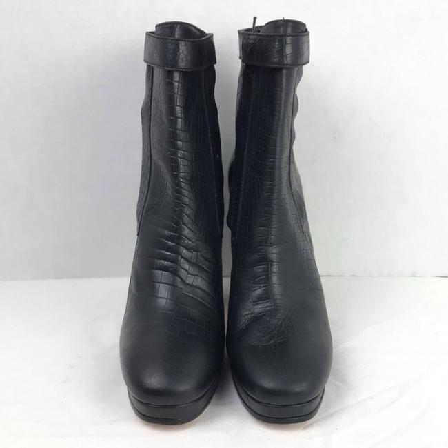 Rachel Comey Black Leather Embossed Heeled Ankle Made In Peru Boots/Booties Size US 9 Regular (M, B) Rachel Comey Black Leather Embossed Heeled Ankle Made In Peru Boots/Booties Size US 9 Regular (M, B) Image 3