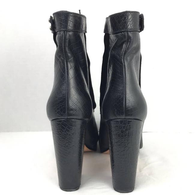 Rachel Comey Black Leather Embossed Heeled Ankle Made In Peru Boots/Booties Size US 9 Regular (M, B) Rachel Comey Black Leather Embossed Heeled Ankle Made In Peru Boots/Booties Size US 9 Regular (M, B) Image 4