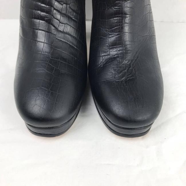 Rachel Comey Black Leather Embossed Heeled Ankle Made In Peru Boots/Booties Size US 9 Regular (M, B) Rachel Comey Black Leather Embossed Heeled Ankle Made In Peru Boots/Booties Size US 9 Regular (M, B) Image 5