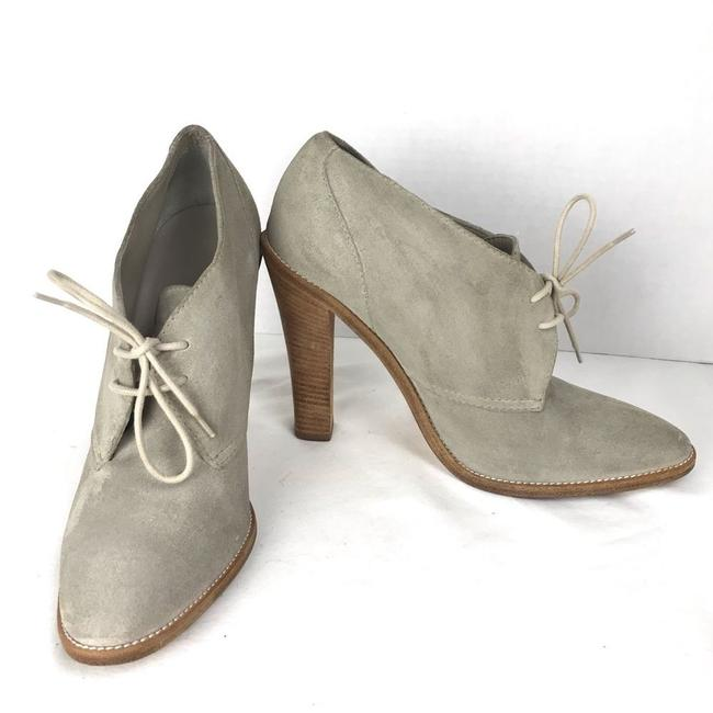 Item - Gray Suede Stacked Heeled Lace Boots/Booties Size EU 38.5 (Approx. US 8.5) Regular (M, B)