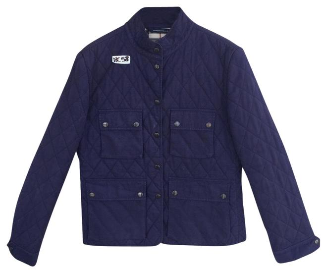 Item - Blue Women's Quilted Field Jacket Size 6 (S)