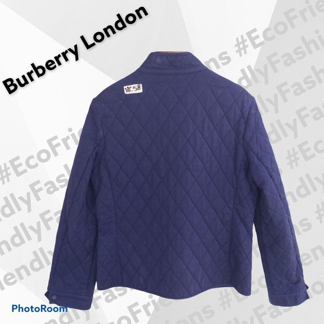 Burberry London Blue Women's Quilted Field Jacket Size 6 (S) Burberry London Blue Women's Quilted Field Jacket Size 6 (S) Image 2