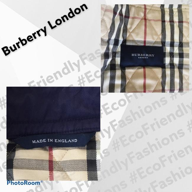 Burberry London Blue Women's Quilted Field Jacket Size 6 (S) Burberry London Blue Women's Quilted Field Jacket Size 6 (S) Image 3