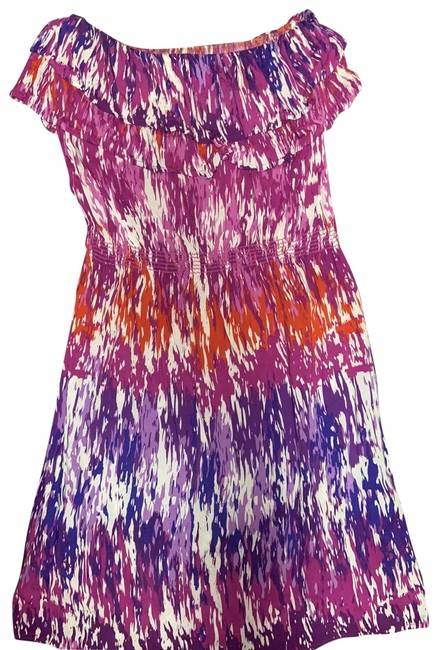 Item - Purple Pink Red 10167 Short Casual Dress Size 4 (S)
