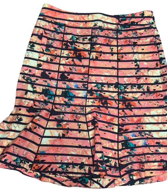 Item - Pink Floral Print/Blue Stripes 951107-00 Skirt Size 2 (XS, 26)
