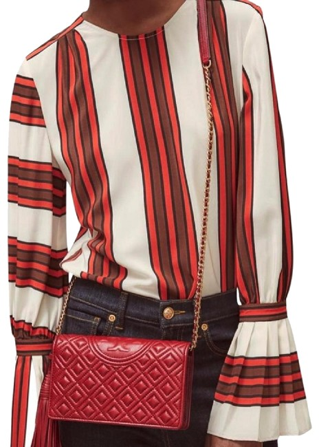 Item - Fleming Chain Wallet Red Leather Cross Body Bag