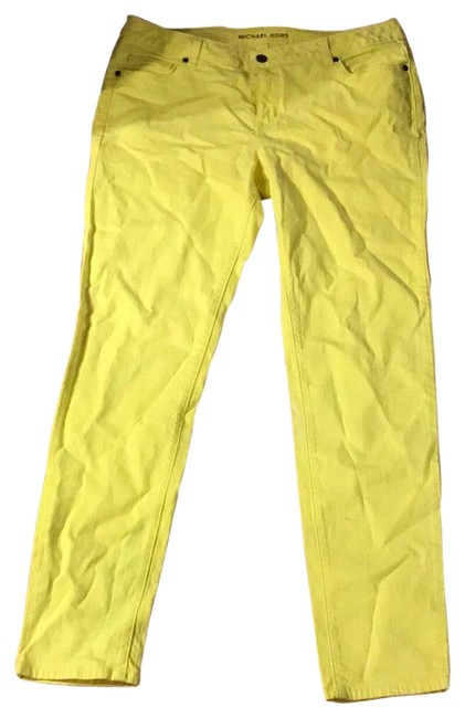 Item - Neon Yellow Nwot Skinny Jeans Size 14 (L, 34)