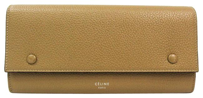 Item - Beige / Red Color Long Flap Multifunction 101673 Women's Calfskin (Bi-fold) Wallet