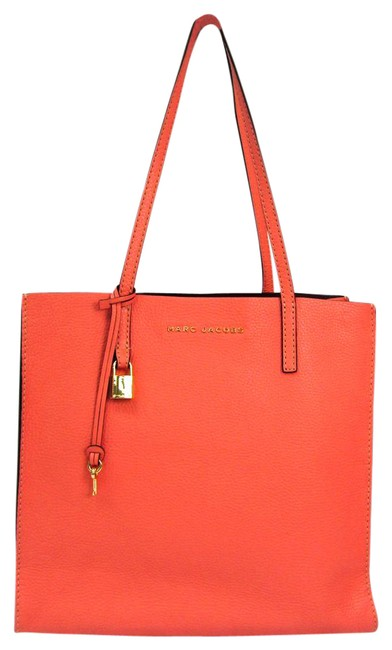Item - Bag The Grind Shopper M0012669 Women's Coral Pink Leather Tote