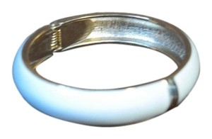 Other Enamel White Gold Hinge Bracelet