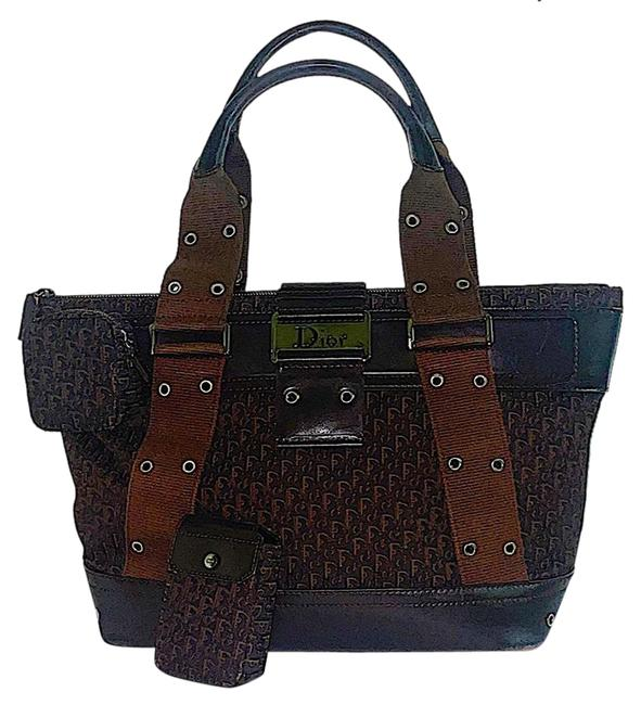 Item - W Vintage Galliano issimo Street Chic W/ Pouch Brown Canvas Tote