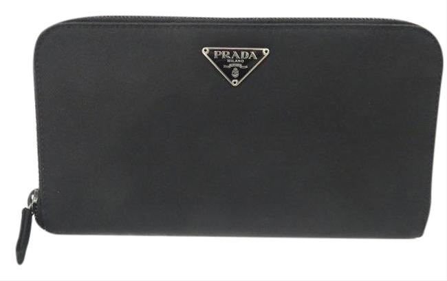 Item - Black / Nero M506 Nylon Round Zipper Long Unisex Wallet