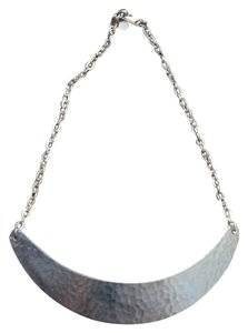 Other Hammered Brass Crescent Necklace