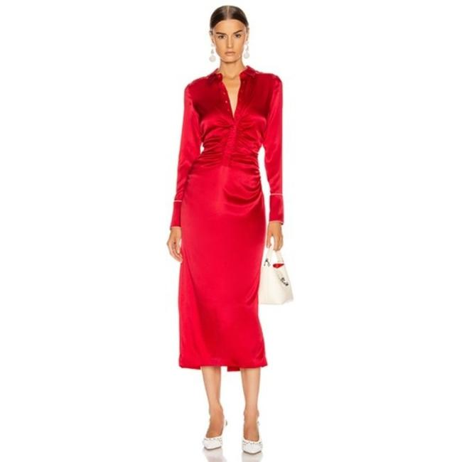 Item - Red Candace Silk Mid-length Cocktail Dress Size 0 (XS)